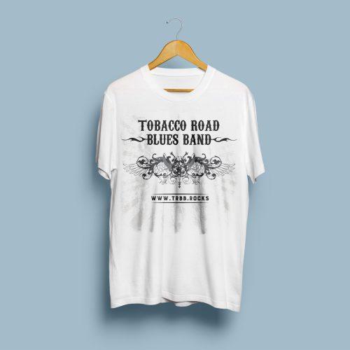 Tobacco Road Blues Band - T-Shirt-Mock-Up-Front
