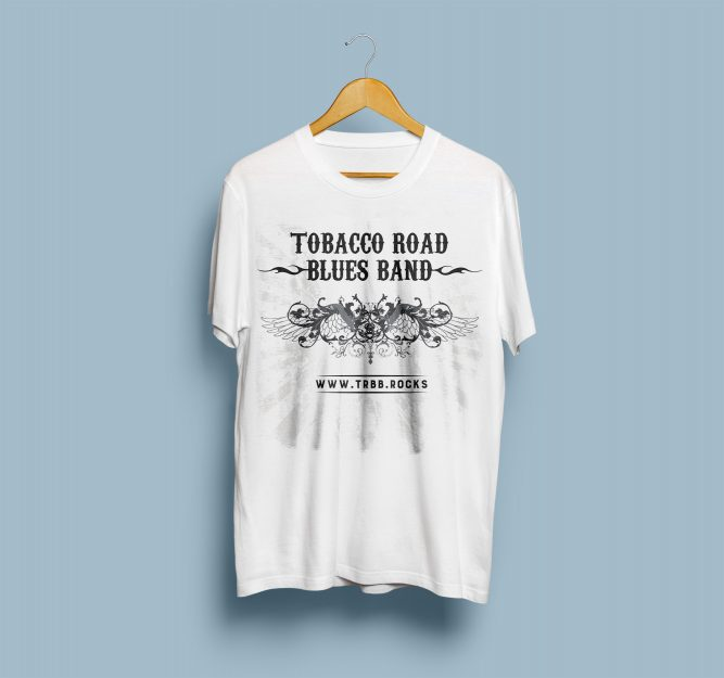 Tobacco Road Blues Band - T-Shirt-Mock-Up-Front